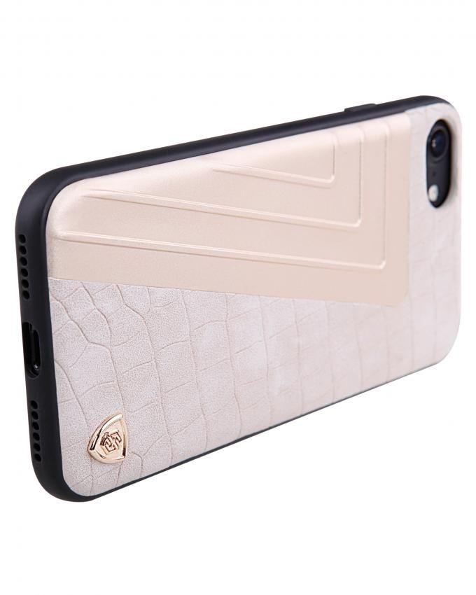 Hybrid Crocodile Leather Case For iPhone 7 - Silver