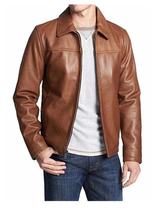 Highstreet Mustard Faux Leather Jacket For Men