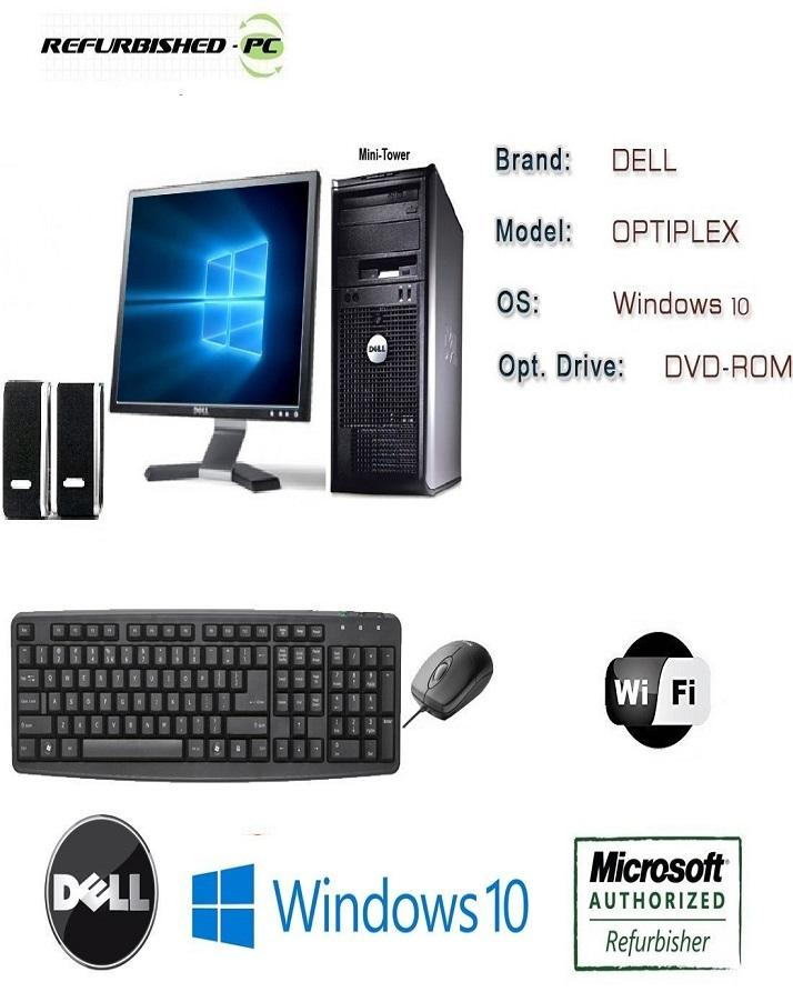 Fantastic Optiplex 780 380 Usff Tower Intel Core 2 Duo 3 0 Ghz 4 Gb Ram 500 Gb Hd Dvd Win 10 Pro 64 Bit Dell 17 Lcd Dell Mouse Keyboard Black Best Image Libraries Sapebelowcountryjoecom