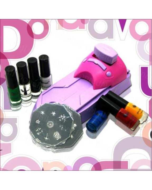 Nail Art Stamping Kit - Pink