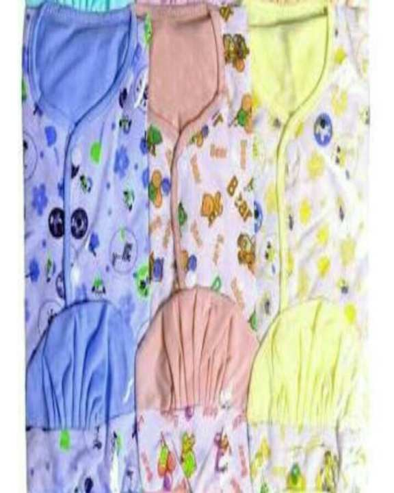 New Born Baby Suit Clothes Uni Sex(Pack Of 3) Multi Color For Gift