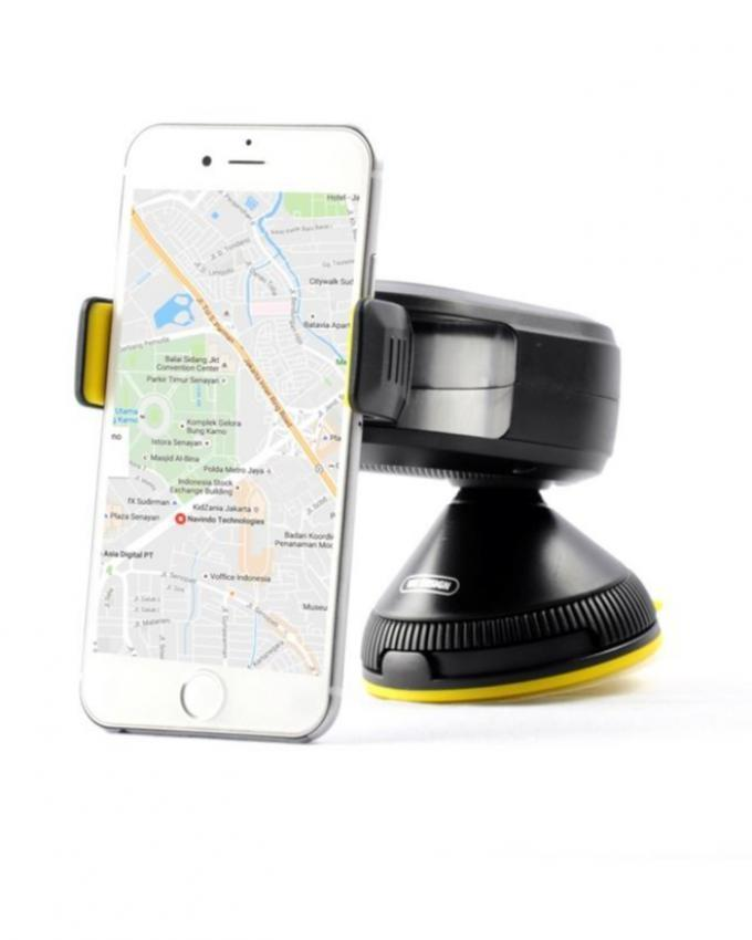WA-S06- Car Mobile Phone Holder - Black & Yellow