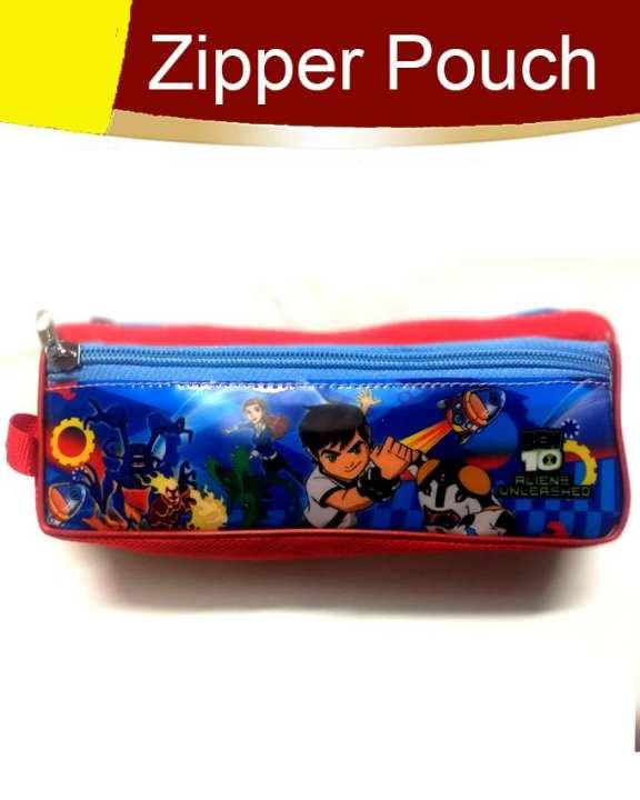 Pack of 1 Fancy Zipper Pouch Red