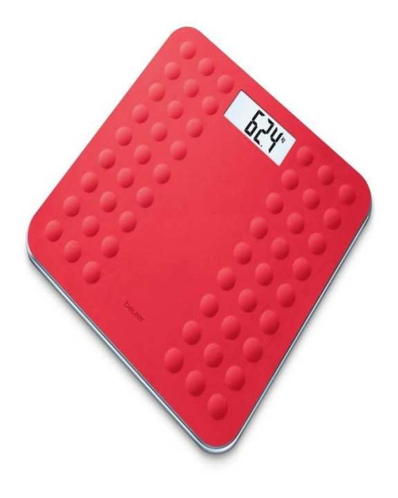 GS 300 - Soft Grip Bathroom Scale - Coral