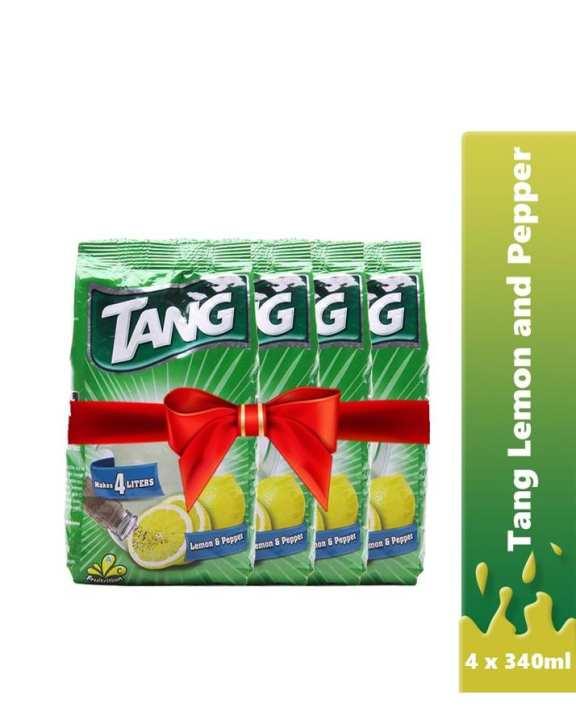 Tang - Buy 4 X Tang Drinking Powder Lemon & Pepper Pouch 340G