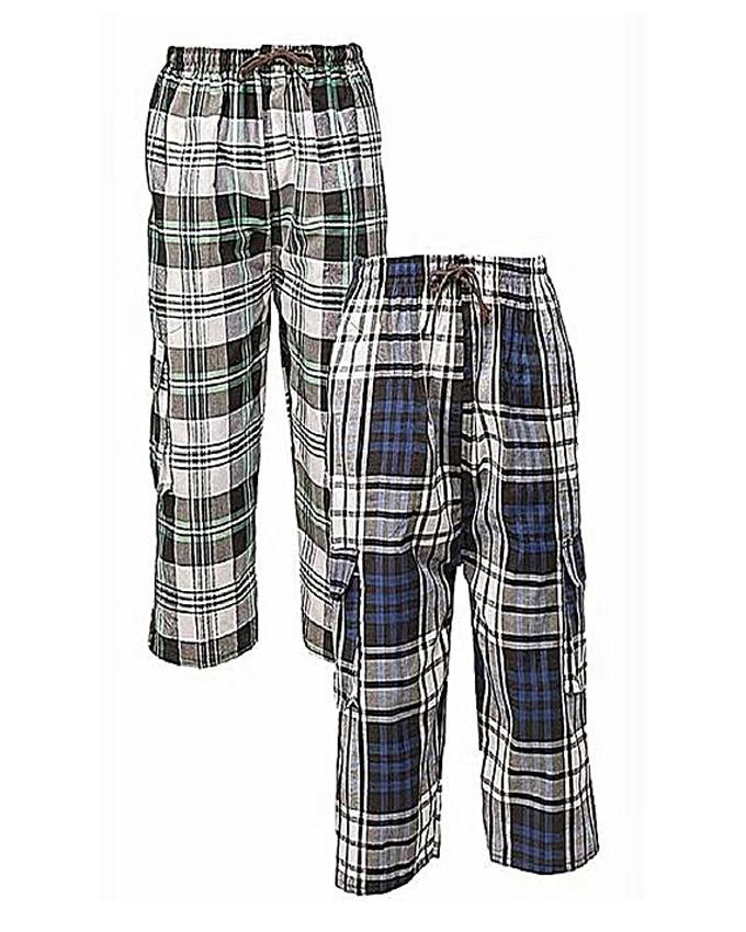 Pack Of 2 For Men - Multicolor Trousers