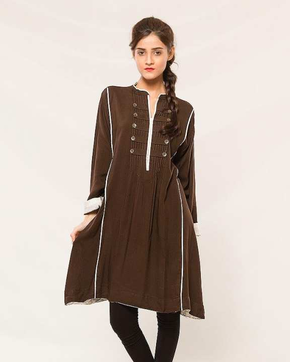 Stylish Brown Cotton Top for Women