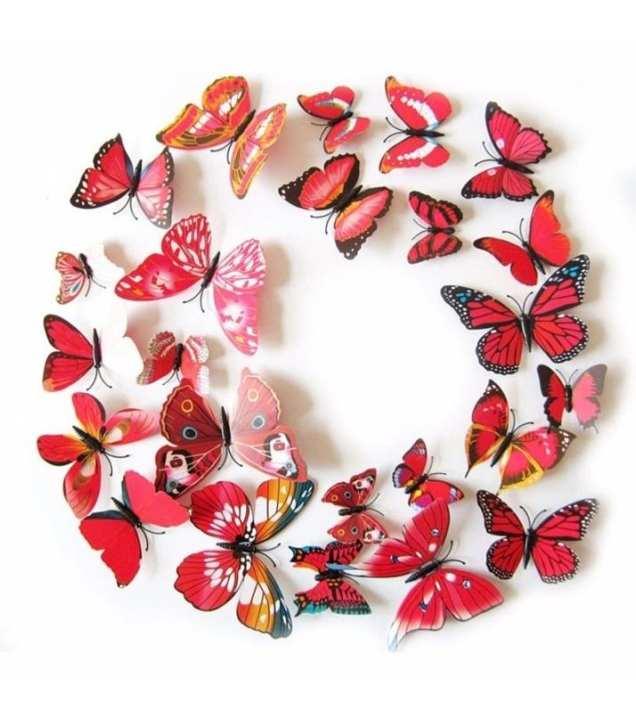 12 Pcs 3D PVC Magnet Butterflies Wall Sticker