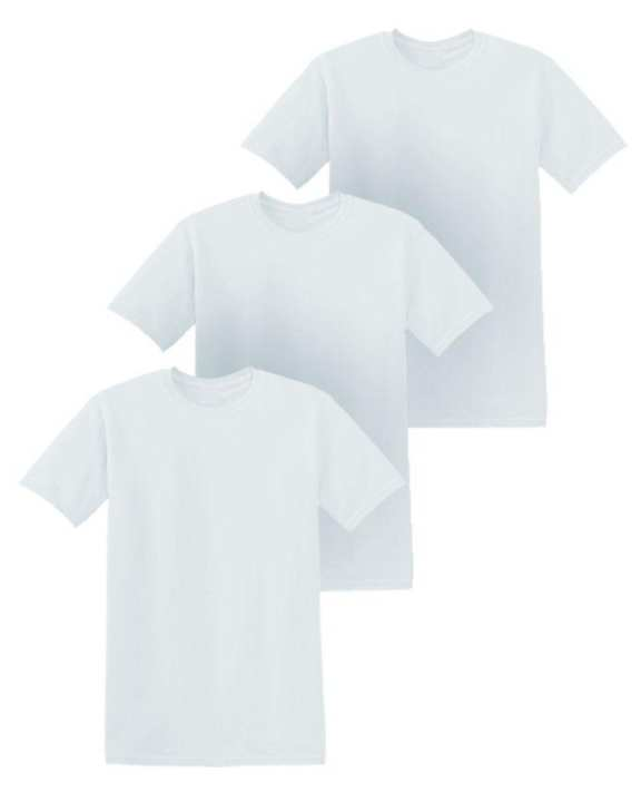 Pack Of 3 - White Cotton T-Shirts For Men