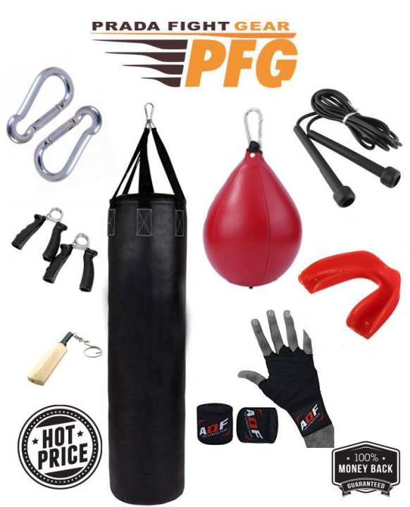 Punch Bag Set For MMA Boxing and Fitness Training Speed ball Hook Jump rope hand grips mouth guard  deal