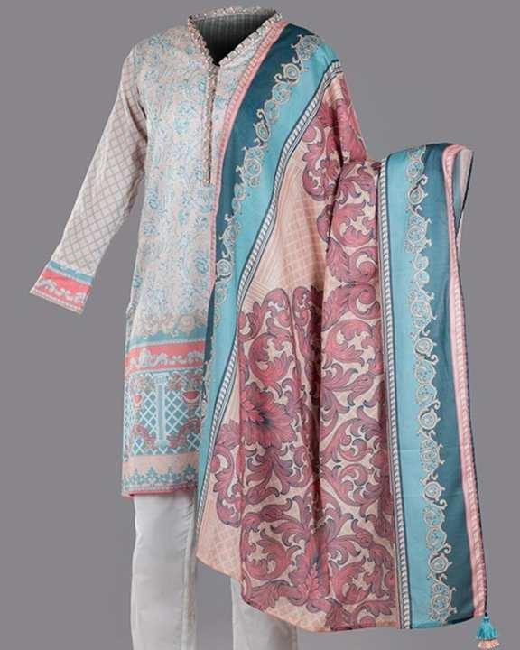 Elegant Tapestry 2 Pc-Unstitched SS1D18-33 (B) Pink Sand