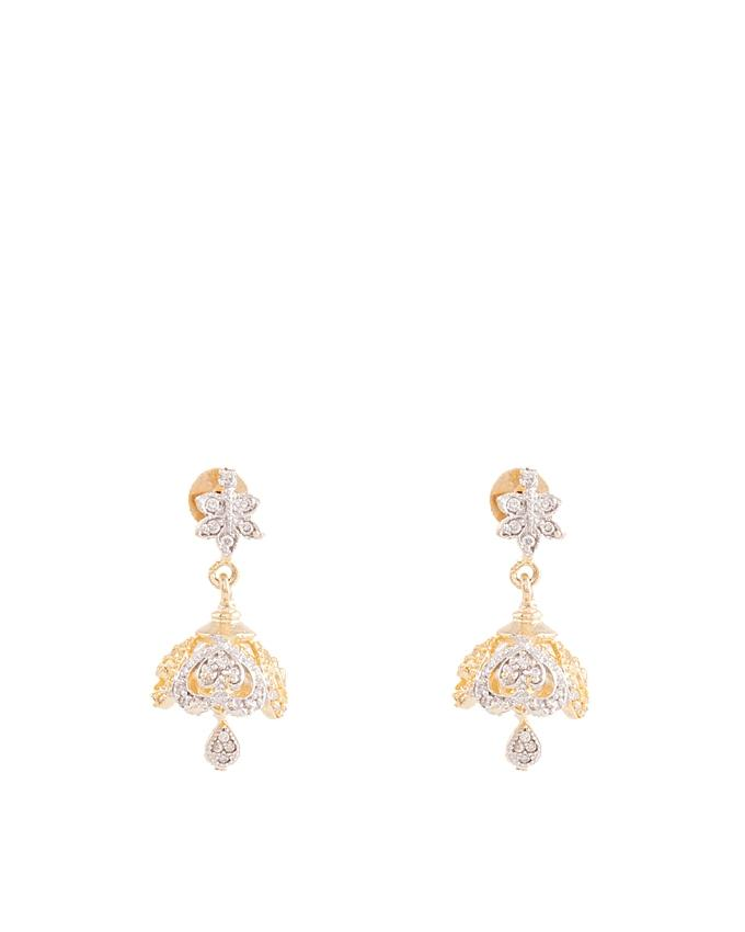 Gold Plated Zircon Earrings for Women - ER-0047