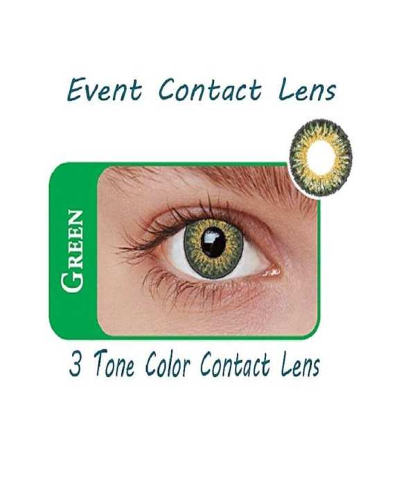 Event 3 Tone Contact Lenses Eye Wear Green