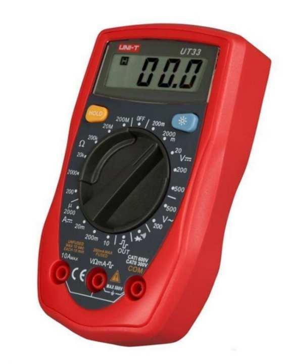Uni-T - Multimeter UT33 Series Handheld Digital - Red