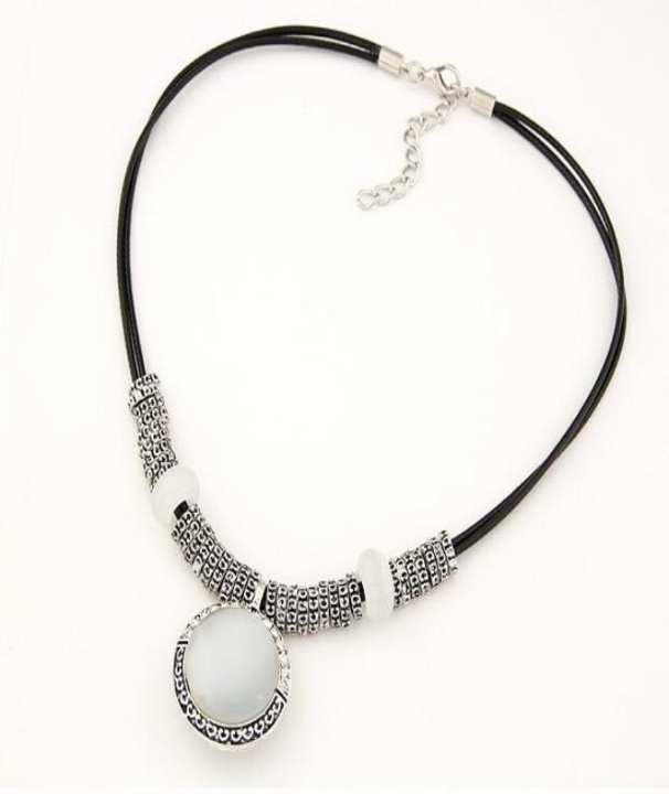 Opal Statement Necklaces & Pendants Women Vintage - Silver