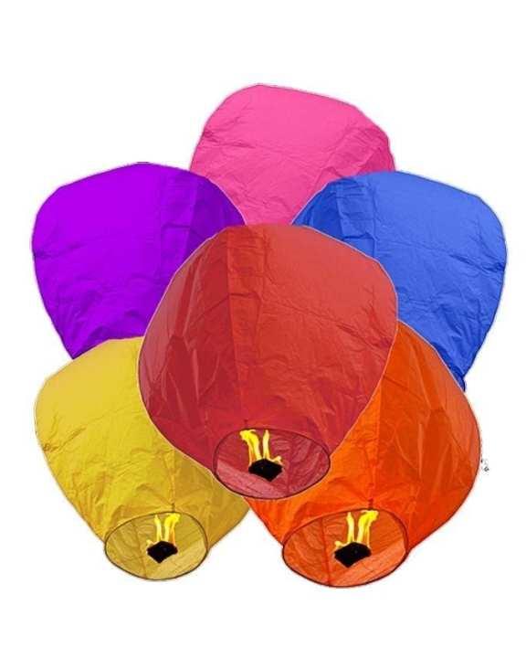 Pack of 3 - Sky Lantern - Multicolors