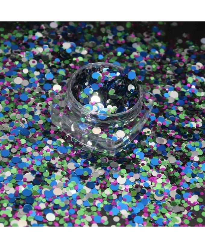 3g Glitter Pot For Nails Blue Green Purple