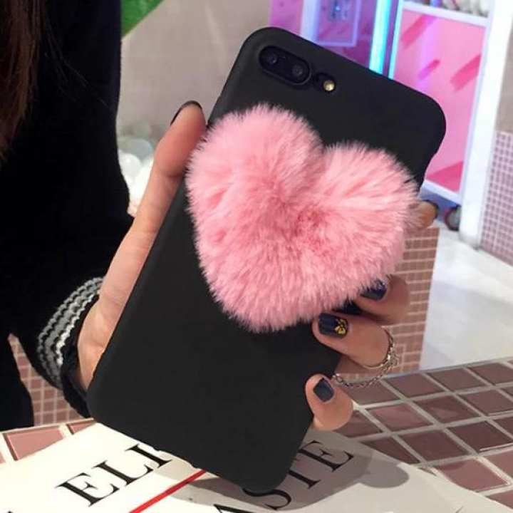 iPhone x  cover case Heart Fur