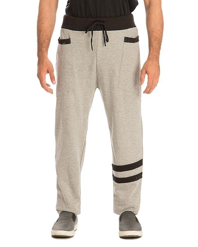 Pack of 2 - Grey & Black Fleece Trousers For Men