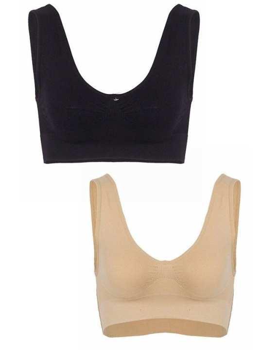 Pack of 2 - Multi Color Nylon Air Bra for Women