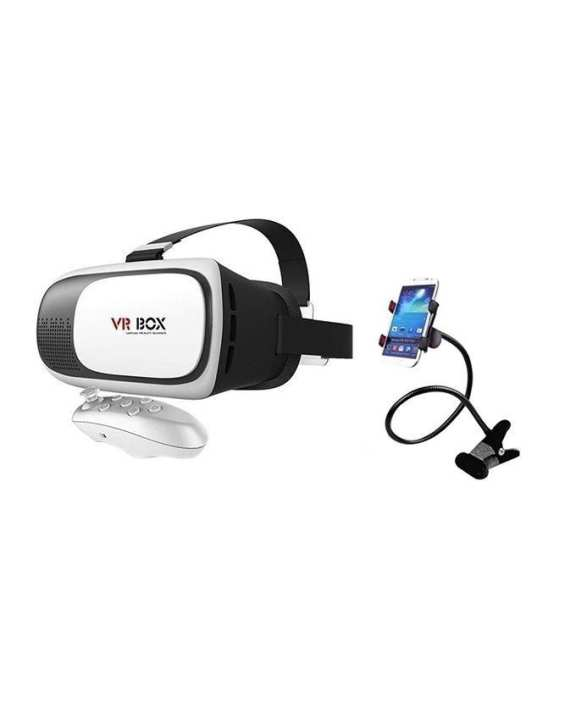 3D VR Box 2.0 with Universal Mobile Clip Holder - Black