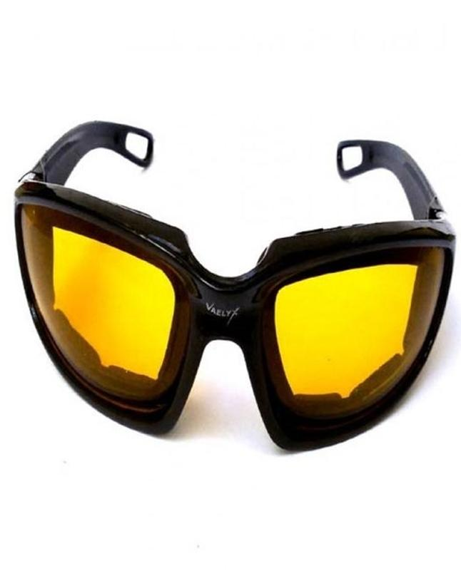 Night Vision Driving Glasses -Yellow- Plastic - With Glasses cover
