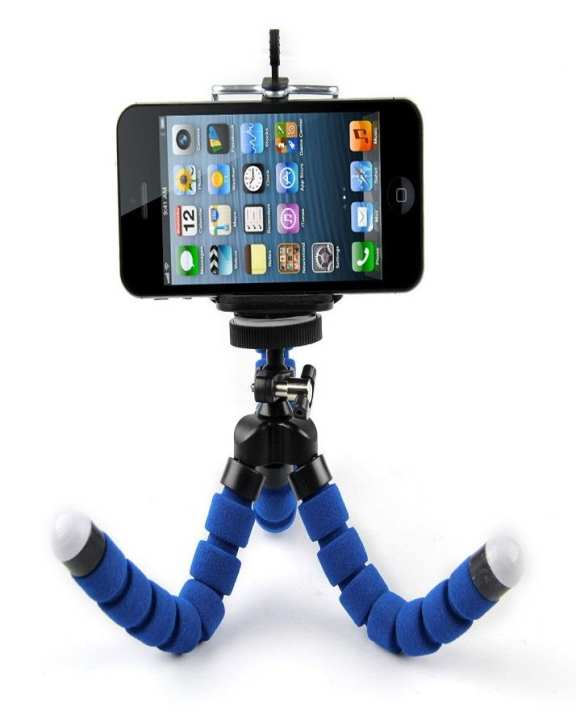 Flexible Octopus Camera / Mobile Tripod Stand - Blue