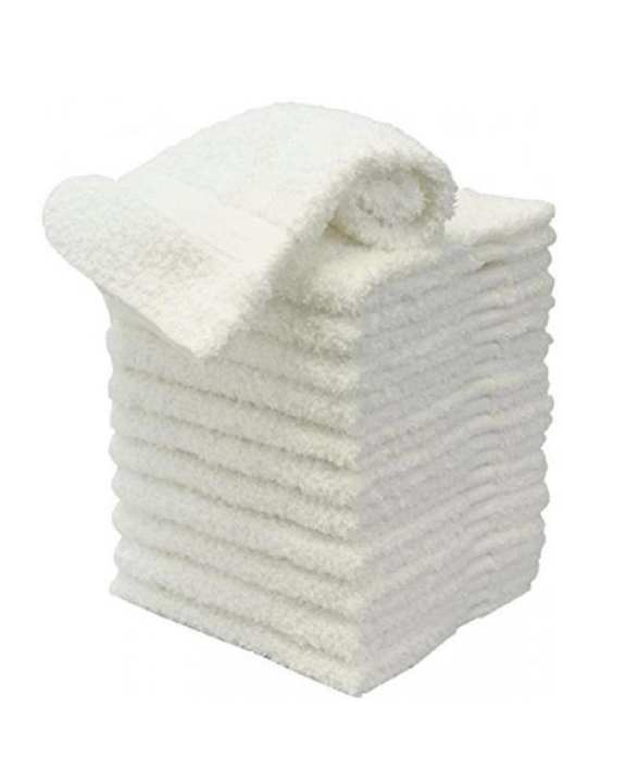 Pack of 12 - Super Soft Small White Hand Towels - 100% Cotton