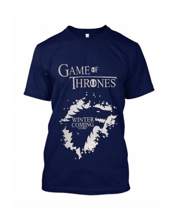 Game Of Thrones Blue Printed Tshirt For Men HT284
