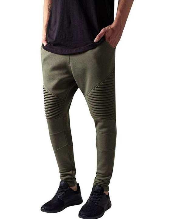 Olive Fleece Sweat Pants for Men - TUH-01