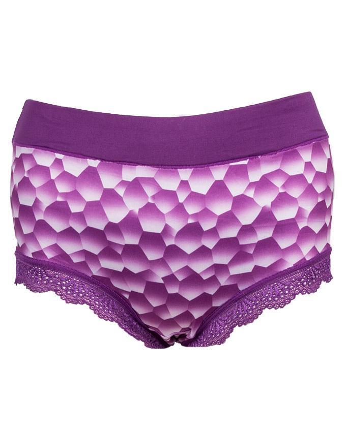 Pack of 5 - Multicolor Lycra Printed Panties Set - 130