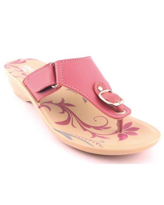 Pink Synthetic Casual Chappal for Women