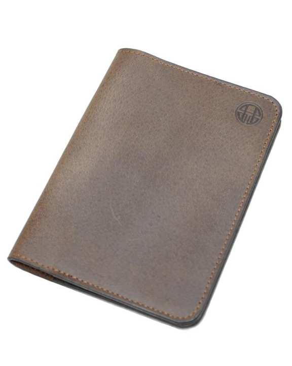 Light Brown Leather Passport Wallet