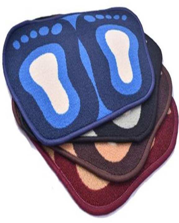 Pack Of 4 - Door Mat Foot Shape - Multicolor