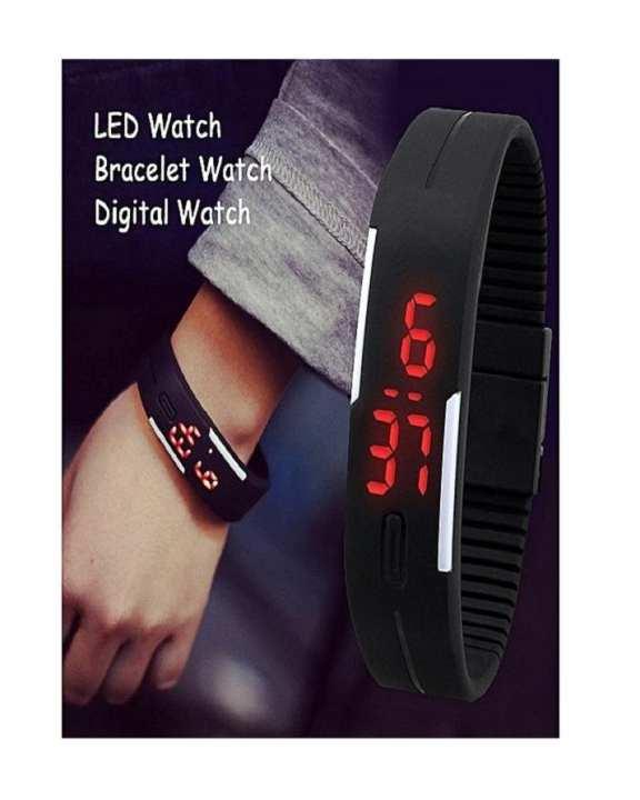 Super Fit LED Sports Watch - Black