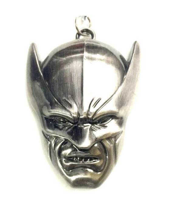 Wolverine Face Pendant with Stylish Chain - Metal