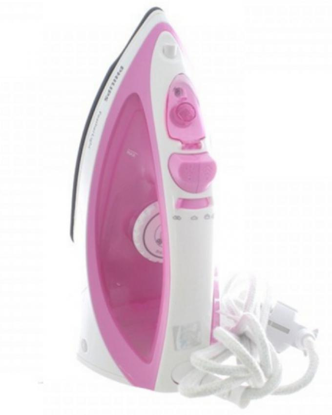 FeatherLight Steam Iron - Pink & White (Brand Warranty)