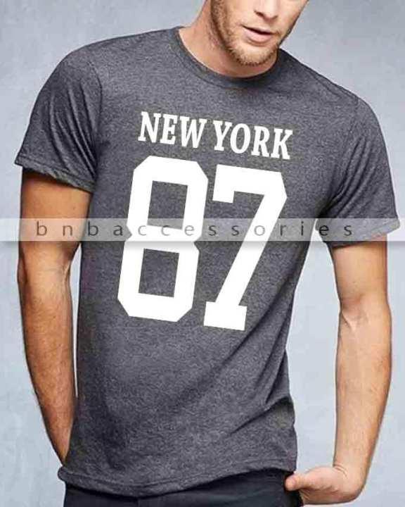 Charcoal New York Printed T-Shirt