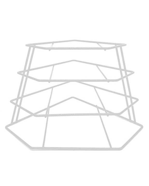 Delux Luxury Corner Plate Rack (White)