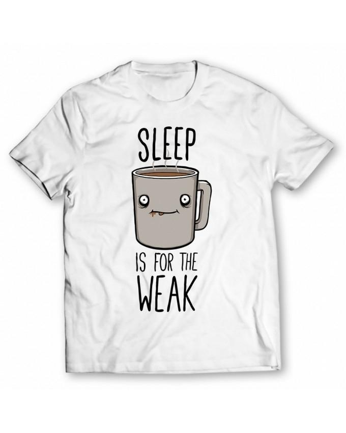 7c466ada0 Product details of White-Sleep Is For The Weak Printed Graphic T-Shirt