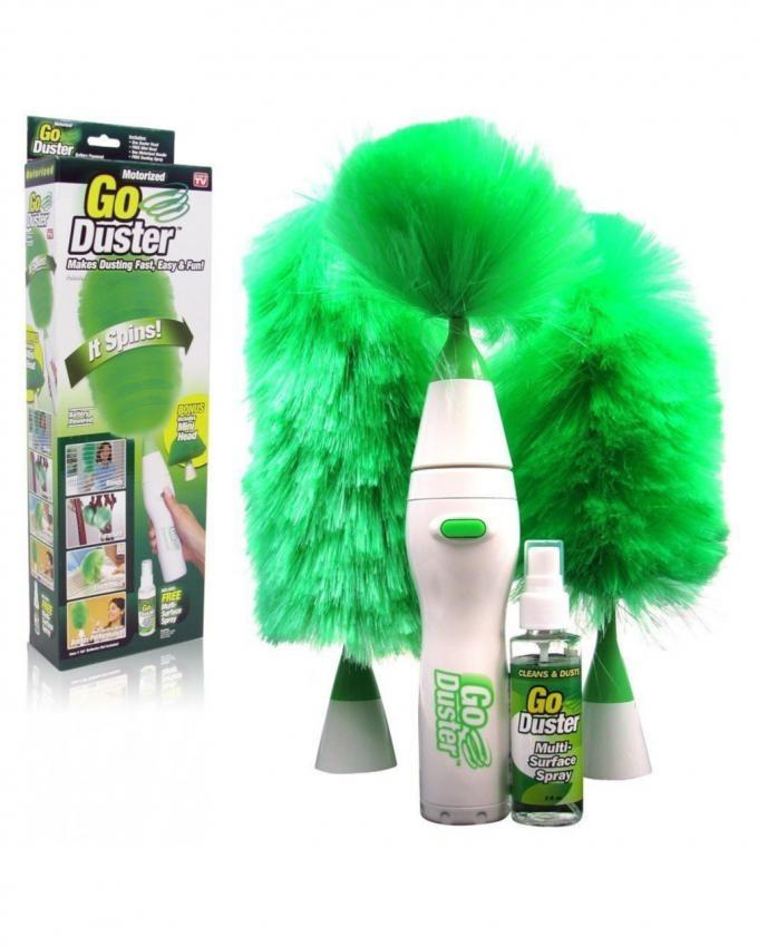 Pack of 4 - Laptop Dusters - Green & White