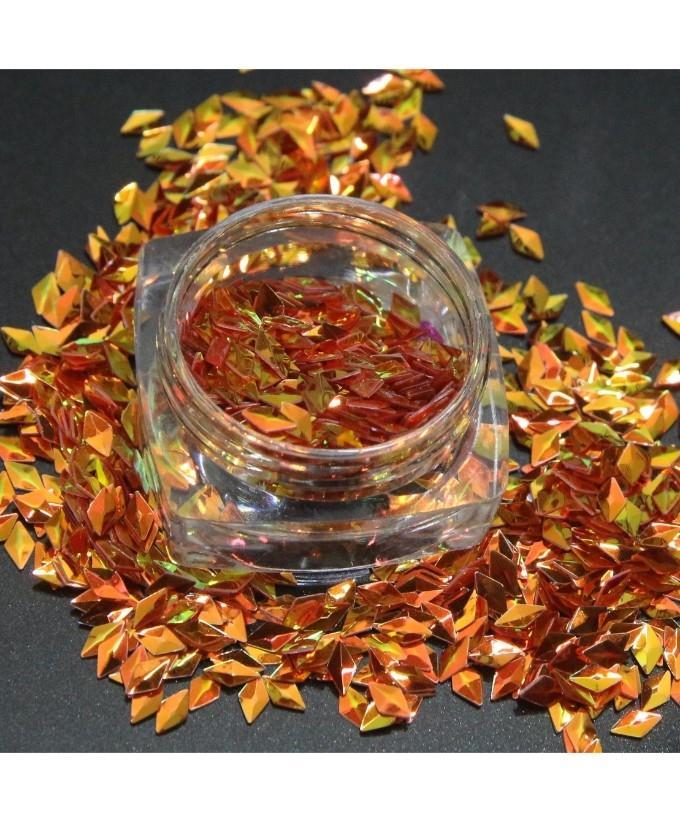 3g Orange Glitter Pot For Nails