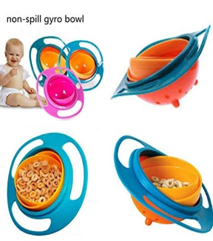 Baby Bowls & Plates 360' Non Spill Bowl With Traditional Methods