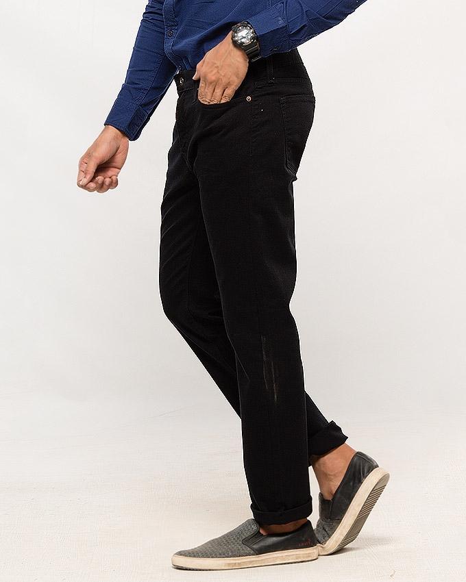 Black Skinny Fit 5 pocket Non-Denim - Flash Sale Exclusive Online Price