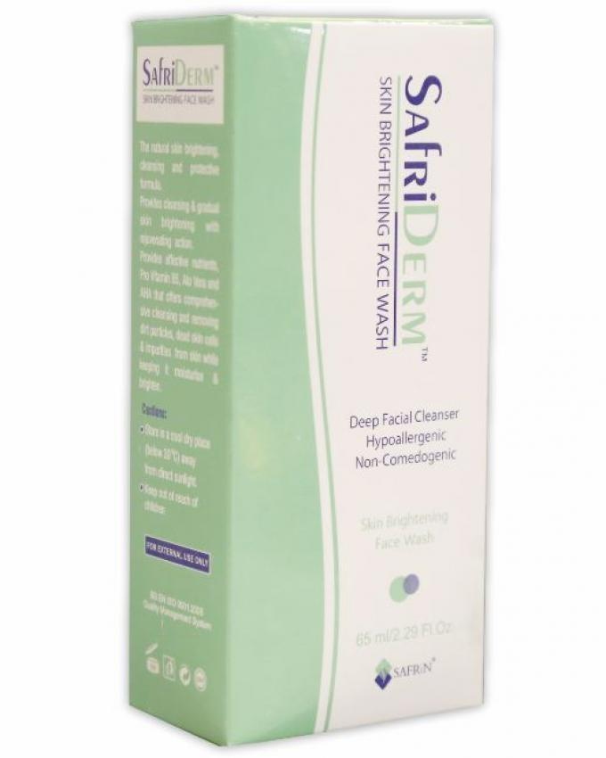 Safrin Safriderm Skin Brightening Face Wash 65ml Buy Online At