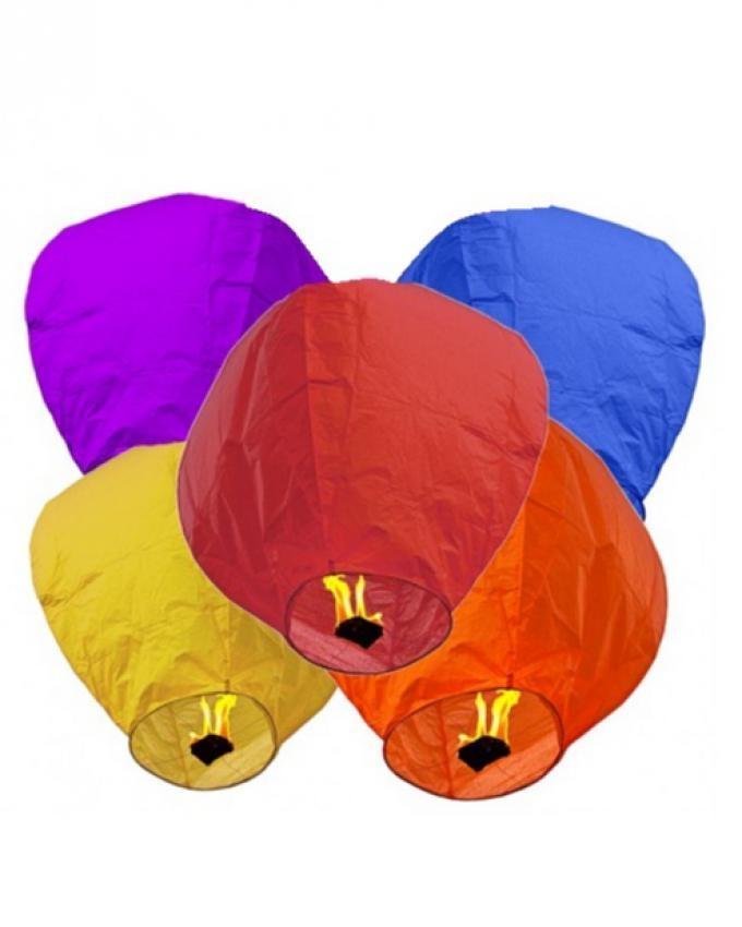 Pack of 5 - Sky Lantern - Multicolors
