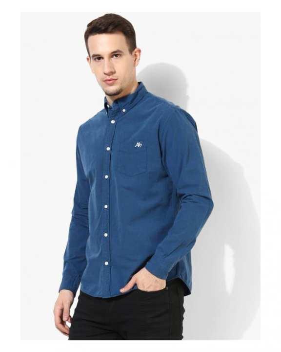 Dusty Blue - Casual cotton Shirt For Men