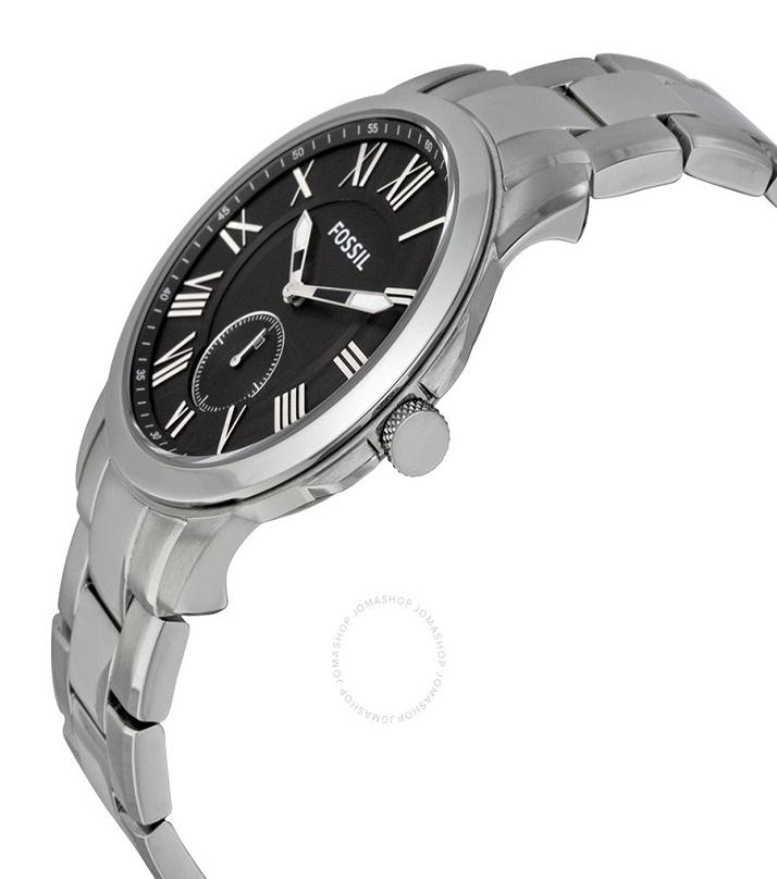 Grant Silver and Black Stainless steel Analog Watch for Men - FS-4973