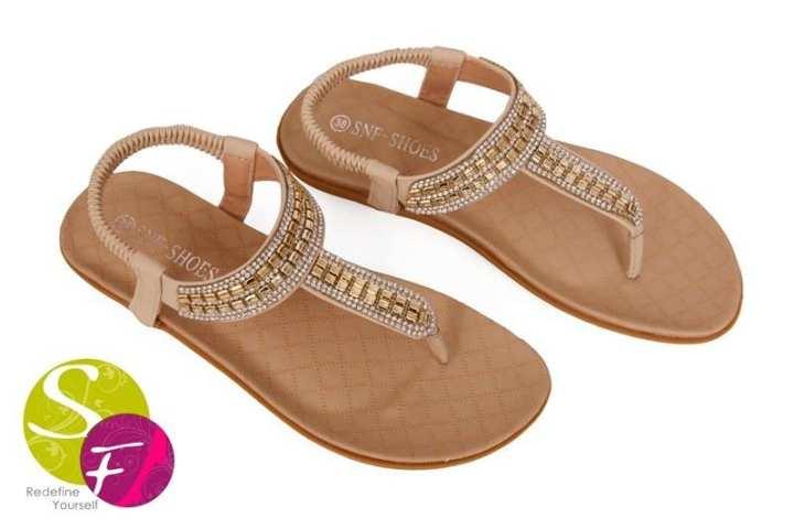 Flat Sandals For Women - Beige