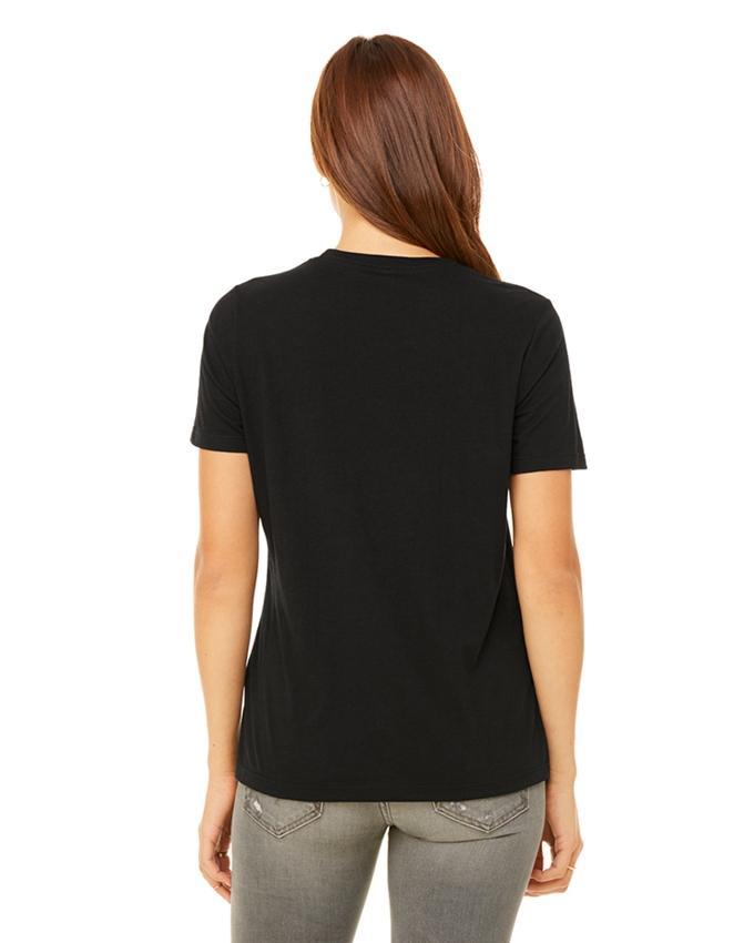 Black Cotton Cat Printed T-Shirt for Women - Ace-023